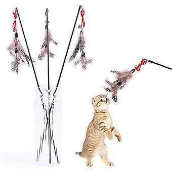 Katzenspielzeug mit braunen Federn - Katzenspielzeug