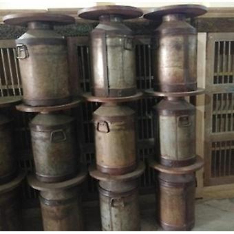 Spura Home indisk stil Vintage jernmælk kan antik med håndtag