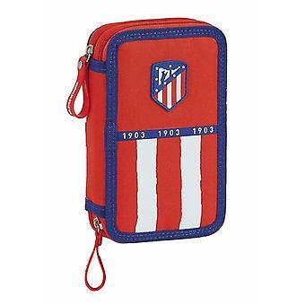 Double Pencil Case Atlético Madrid 20/21 Blue White Red (28 pcs)