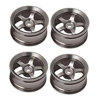 4 ks 52 x 26 mm Sivá RC 1:10 Kruhový ráfik 5 hovoril o cestných diskoch kolies pre pretekárske automobily