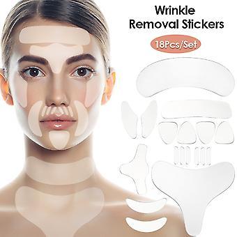 Wiederverwendbare Silikon Falten Entfernung Aufkleber Gesicht Stirn Hals Auge Aufkleber Pad Anti Aging Patch Gesicht Heben Maske Haut Pflege Werkzeuge