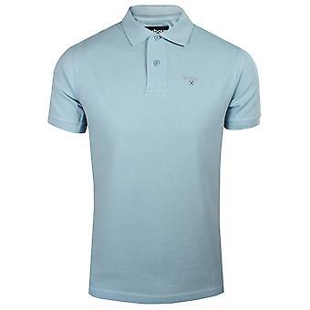 Barbour mens sky sports polo shirt