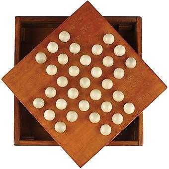 FengChun Zone Solitär Board Holz Einzelspieler Spiel DLZSQ-01 MEHRWEG