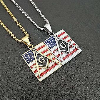 Masonic freemasonry america usa pendant necklace