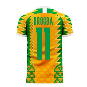 Norsunluurannikko 2020-2021 Home Concept Football Kit (Libero) (DROGBA 11)
