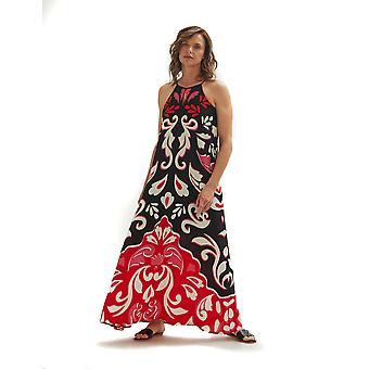 Shuuk Damask Print Long Maxi Dress for Women - Vestido Maxi llano suelto sin mangas