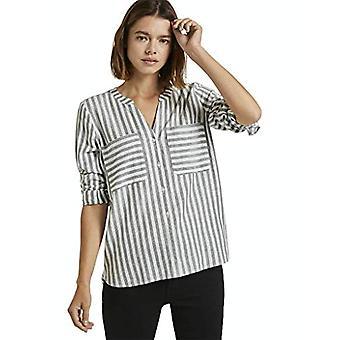 TOM TAILOR Denim Cozy Streifen T-Shirt, 25185-Vertical Model, Color: Grey, XL Woman