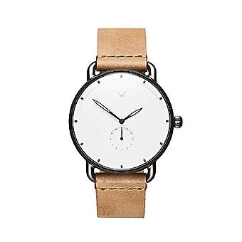 MVMT reloj cronógrafo de cuarzo para hombre con correa de cuero D-MR01-WC
