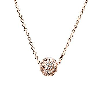 Eye Candy - Women's necklace, sterling silver 925 rhodium, pendant with 66 white zircons, 45 cm - ECJ-NL0090
