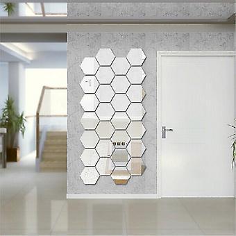 3D Hexagon Mirror Wall Sticker 12PCs/Set Home Decor Mirror Decor Stickers Art Wall Decoration