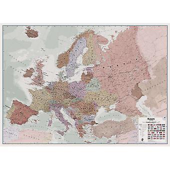 Stor verkställande Europa väggkarta politisk (laminerad)