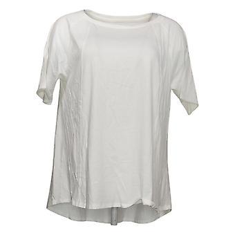 أي شخص Women & apos;s أعلى دافئ متماسكة قصيرة الأكمام سوينغ الأبيض A349828