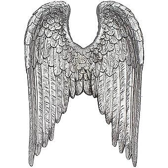 sølv kunst dekorative engel vinger ornament