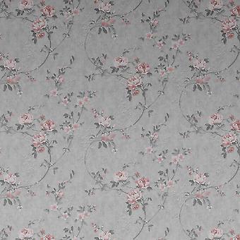 Bettany Floral Rose &Gris Fond d'écran