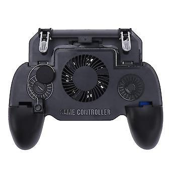Duurzame mobiele game controller voor Iphone Ios & Android Mobile Gaming Trigger Joystick met batterij en koelventilator (zwart)