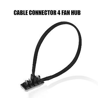 Pc Cooler Fan Power 1 Female To 4 Male 4pin Socket Fan Hub Splitter Cable