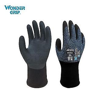 Wonder Grip Γδαρσίματα-απόδειξη γάντια κηπουρική 15-gauge νάυλον χιτήρας & amp; amp; Νιτριτλ Επίστρωμα Καθολική