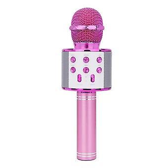 Bezprzewodowa przenośna przenośna ręczna łączność Bluetooth, mikrofon singing machine