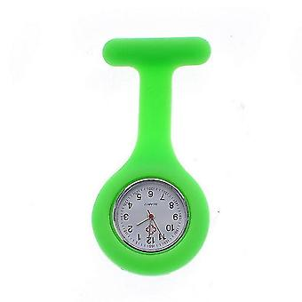 High Quality Silicone, Nurse Pocket Watches(GREEN)