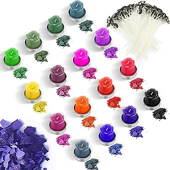 16 Farbe Kerze Wachs Farbstoff Kerze Färbemittel Flocken Kerze Herstellung Farbe Farbstoff mit 100