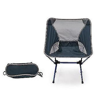 Outdoor Portable Camping And Beach Barbecue Fishing Folding Chair(Navy Blue)