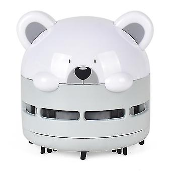 portable desktop vacuum cleaner,Automatic desktop cleaner,USB night light(Gray)