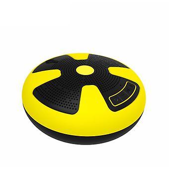Bluetooth-динамик, портативный беспроводной IPX7 водонепроницаемый плавающий динамик Bluetooth, с функцией TWS, тяжелый бас, стерео сопряжение, прочный, подходит для бассейна, пляжа, душа, путешествия (желтый)