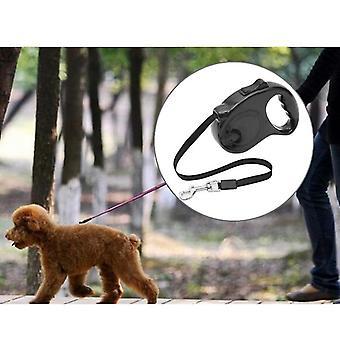 Haustier versenkbare Leine automatische Verlängerung Pet Walking Leads, Länge: 3m(Schwarz)