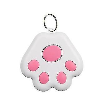 2 Packs Dog Paw Shape Bluetooth Anti-lost Device Mobile Phone Two-way Alarm Tracker(Pink)