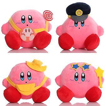 4pcs الوردي كيربي أفخم لعبة لطيف لعبة دمية لينة محشوة الرقم للأطفال