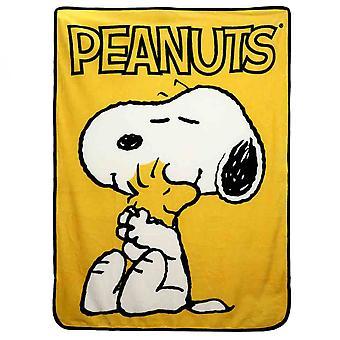"Peanuts Snoopy & Woodstock Hahmo 48""x60"" Fleece Throw"
