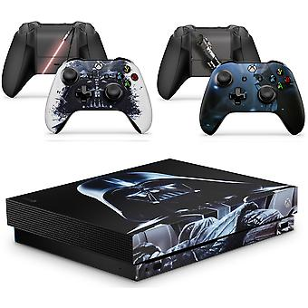GNG XBOX ONE X DV Console Skin Decal Sticker + 2 x  Controller Skins &