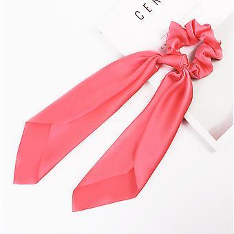 Friseurmeister Scrunchie mit Schleife Satin Elastic Haargummis Ribbon Bow für dickes und feines Haar