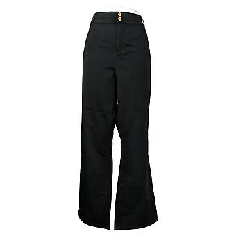 Global Chic By Iman Women's Plus Pants Slim Bootcut Black 685831