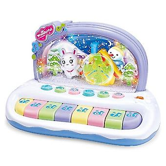 Baby Musical Toys Snowflake Keyboard Piano Electronic Educational Toys Knock Playing Birthday Gift