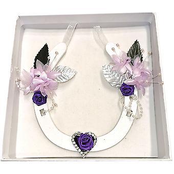 Hanging Wedding Horseshoe Diamante Heart by Sweet Pea Designs