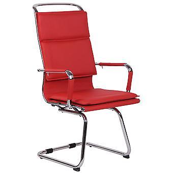 Chaise de bureau - Chaise de bureau - Bureau à domicile - Moderne - Rouge - Métal - 56 cm x 66 cm x 113 cm