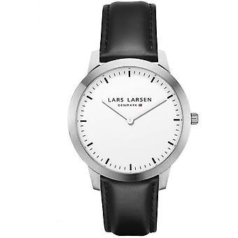 LLarsen (Lars Larsen Black Genuine Leather) 135SWBLL Men's Watch