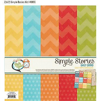 """Simple Stories - Daily Grind - Simple Basic Paper Kit 12""""X12"""""""