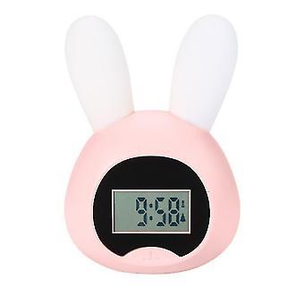 Alarm clocks little wake up light rabbit pink awakening light pink