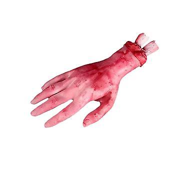 Hankala lelu verinen käsi Halloween sisustus pelottava punainen käsi kauhea rekvisiitta
