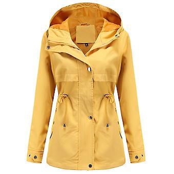 Mile női Zip Up Safari katonai Anorak kabát kapucnis zsinórral