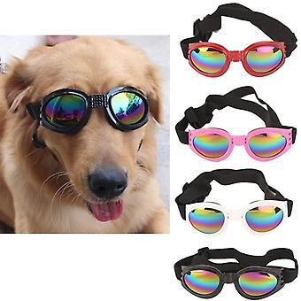 2ks Nastaviteľné protivetrové bezpečnostné okuliare Psie okuliare Pre domáce zvieratá