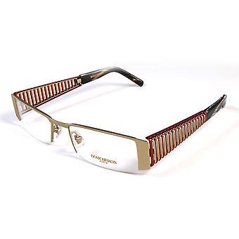 Boucheron Unisex Semi-Rectangle Eyeglasses Red/Gold