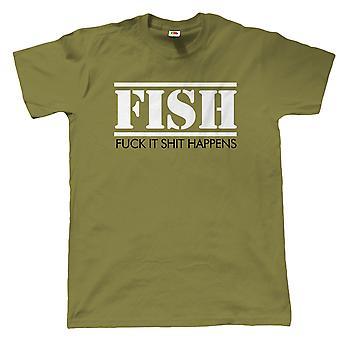 FISCH, Herren lustige Angeln T Shirt, Karpfen, Meer, fliegen, Geschenk Papa Geburtstag