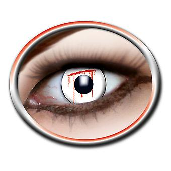 Lentilles de contact blanche slash 1 paire Carnaval Halloween
