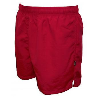 Shorts de baño básico, rojo de jinete