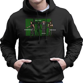 Archer Confusion Superhero Green Spy Zombie Men's Hooded Sweatshirt