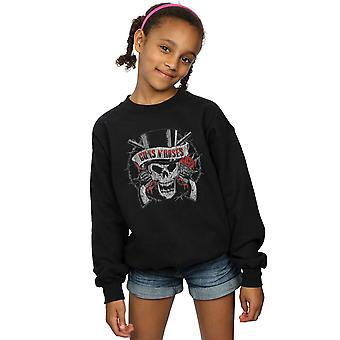 Guns N Roses Girls Distressed Death's Head Hoodie