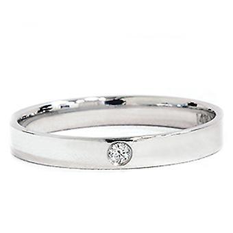 1 / 30ct 3 mm Solitär Diamant Hochzeit Versprechen-Ring 14K